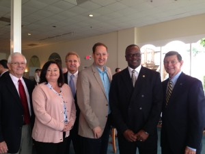 Pete Dunbar, Terissa Aronson - St. Lucie Chamber of Commerce, Joel Zwemer, Sen. Joe Negron, Rep. Larry Lee, Dr. Ed Massey - Indian River State College