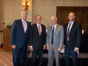 L to R: Rep. Mike Miller, Sen. David Simmons, Peter M. Dunbar, Rep. Rene Plasencia