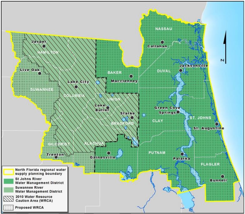 Proposed NFRWSP Water Resource Caution Area
